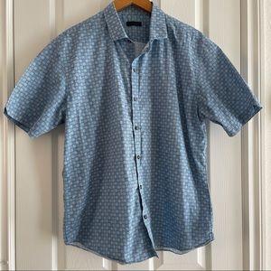 Zachary Prell Casual Button Down Plaid Shirt XL
